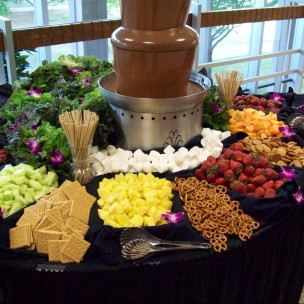 Chocolate fountain + Male Strip party