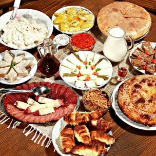 Latvian traditional meal
